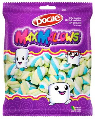 Marshmallow MaxMallows Twist Color 3 c/250grs - Docile