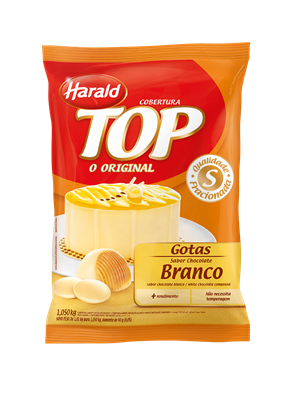Cobertura Chocolate Branco - 1.050Kg Harald Top Gotas