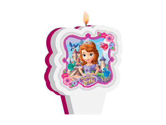 Vela Plana Princesinha Sofia The First - Regina